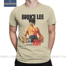 Men Fist Of Fury Bruce Lee T Shirt Dragon Movie Kung Fu Karate China Cotton Tops Short Sleeve Tee Shirt New Arrival T-Shirts