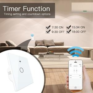 Image 5 - WiFi Smart Switch Fernbedienung Glas Panel Tuya Licht Schalter Funktioniert Mit Alexa Echo Google Home RF433 EU Typ Weiß touch