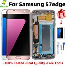 Новый оригинальный OLED экран для Samsung Galaxy S7 Edge G935FW S7 G930F SM-G930F ЖК-дисплей в сборе сенсорный дигитайзер с рамкой