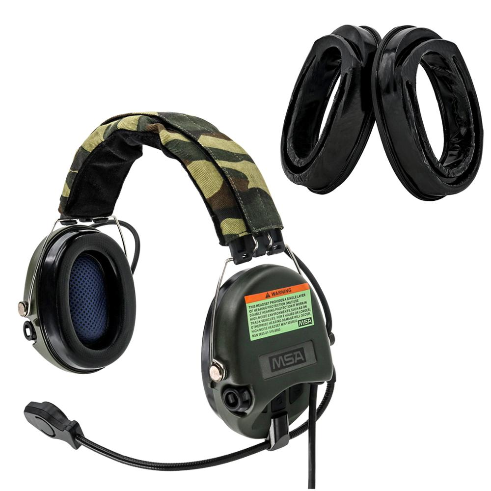 Tactical Hunting Anti-Noise Sordin Headphones Airsoft Military  Headset Tactical Walkie Talkie Headse FG+Sightlines Gel Ear Pads