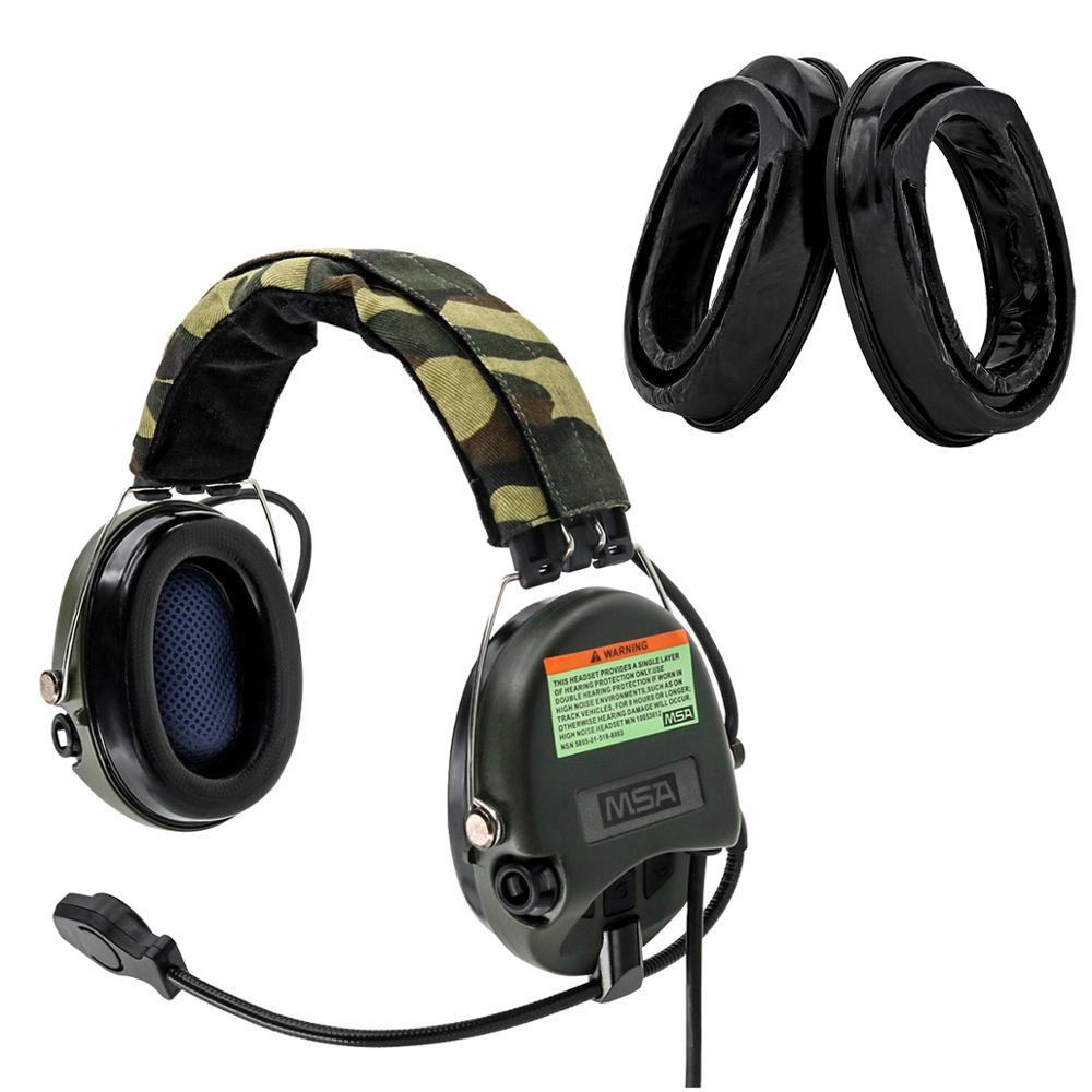 Tactical Hunting Anti-Noise Sordin Headphones Airsoft Military  Headset Tactical Walkie Talkie Headse FG+Sightlines Gel Ear Pads