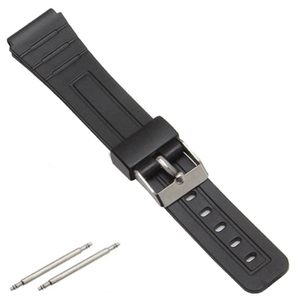 16mm 18mm 20mm Bracelet Silicone Rubber Bands For casio Wristwatches EF Replace Electronic Wrist Watch Band Watch sports Straps(China)