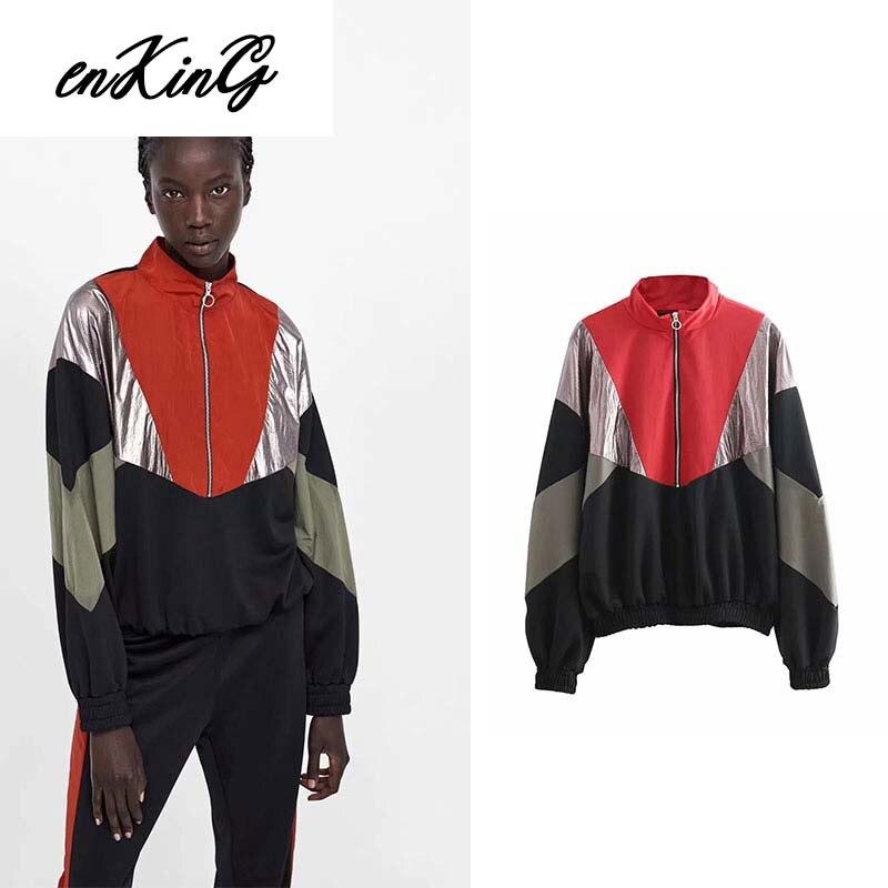 England style patchwork yellow red black long sleeve women sweatshirt jacket women plus size hoodies turtleneck women autumn top in Hoodies amp Sweatshirts from Women 39 s Clothing