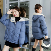 In the fall and winter of 2019 the new winter jacket eiderdown cotton short thickening cotton padded jacket suit coat