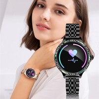 2019 feminino relógio inteligente menstrual assistente freqüência cardíaca caloria chamada de pressão arterial lembrete smartwatch para iphone huawei samsung