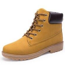 цены Men Boots Winter Shoes Men Fashion Work Shoes Ankle Boots For Mens Winter Boots Male Pu Leather Boots Men's Shoes Plus Size 46