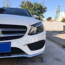 Front fog light strip For mercedes w205 amg Mercedes c class accessories  benz c63 exterior decoration