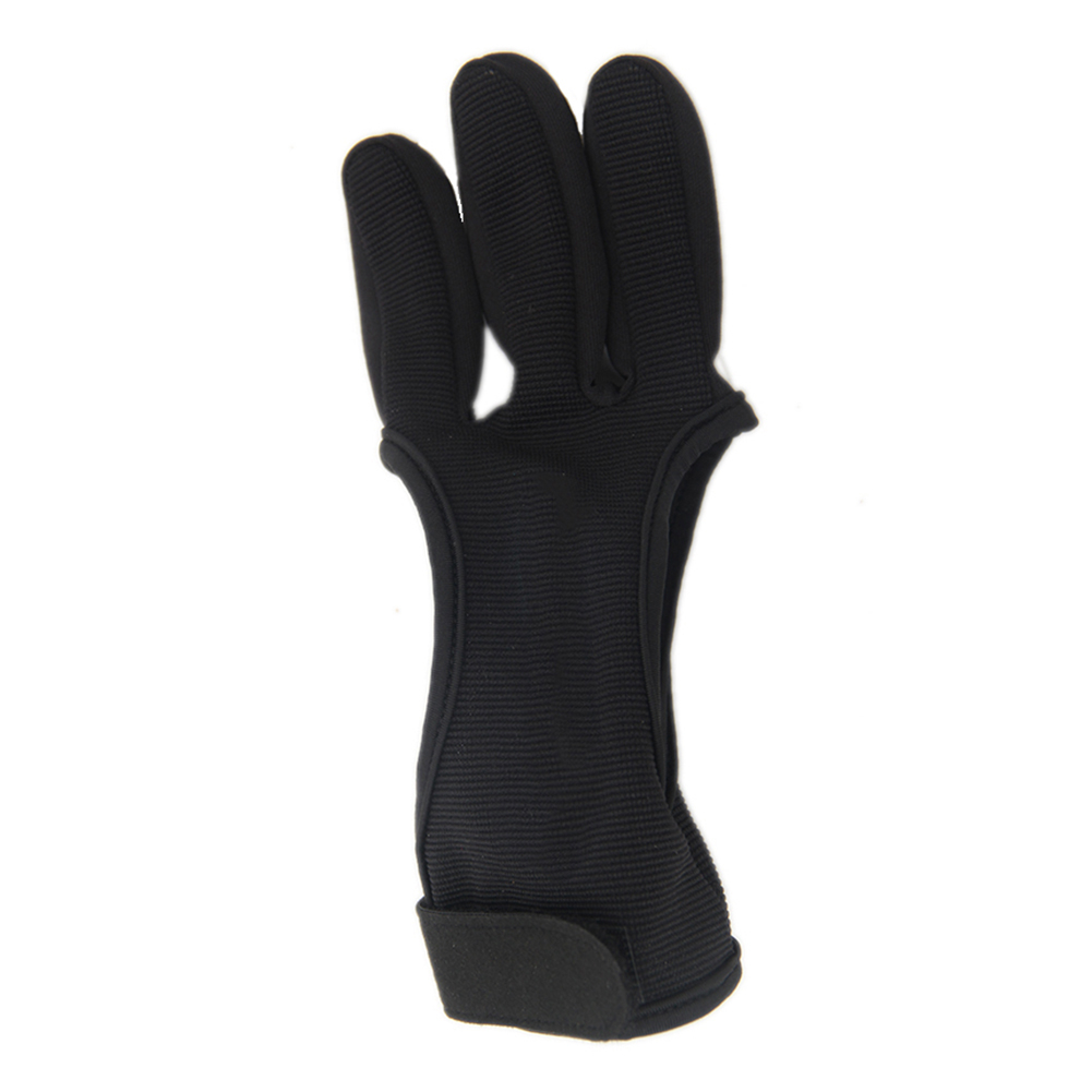 Three Finger Archery Protector Bow Shooting Glove 2