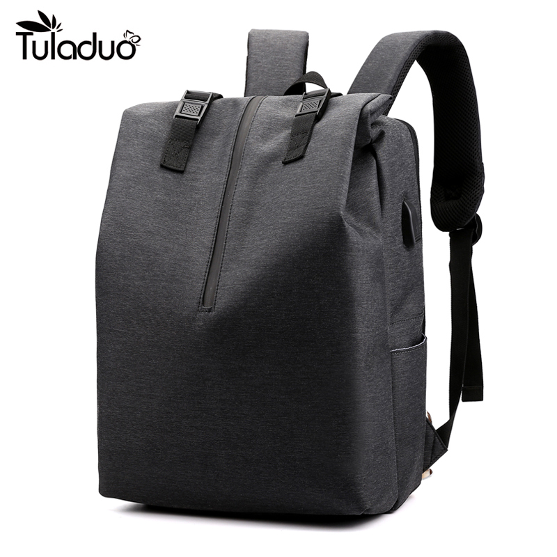 USB Notebook Men's And Women's Computer Backpack Waterproof Anti-theft Oxford Cloth Large Capacity Student Backpack Bag Teenager