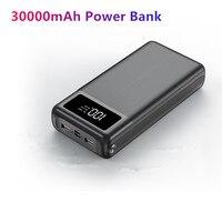 Portátil 30000 mah banco de potência 2 usb poverbank para iphone 11 pro 8 x carregador de bateria externa tipo c micro usb 3 portas power bank|Baterias Externas| |  -