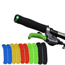 1 para osłona klamki hamulca rowerowego hamulce rowerowe rękaw silikonowy uniwersalny typ dźwigni hamulca osłony ochronne akcesoria rowerowe tanie tanio SQL588 Bicycle Brake 7 5*1 3cm Line Pulling Disc Brake Mountain Bikes Road Bicycles Kids Bikes Cruisers brake levers bicycle