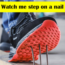 Buy Men's work safety shoes for men and women steel toe head air safety boots anti-piercing work sneakers breathable shoes directly from merchant!