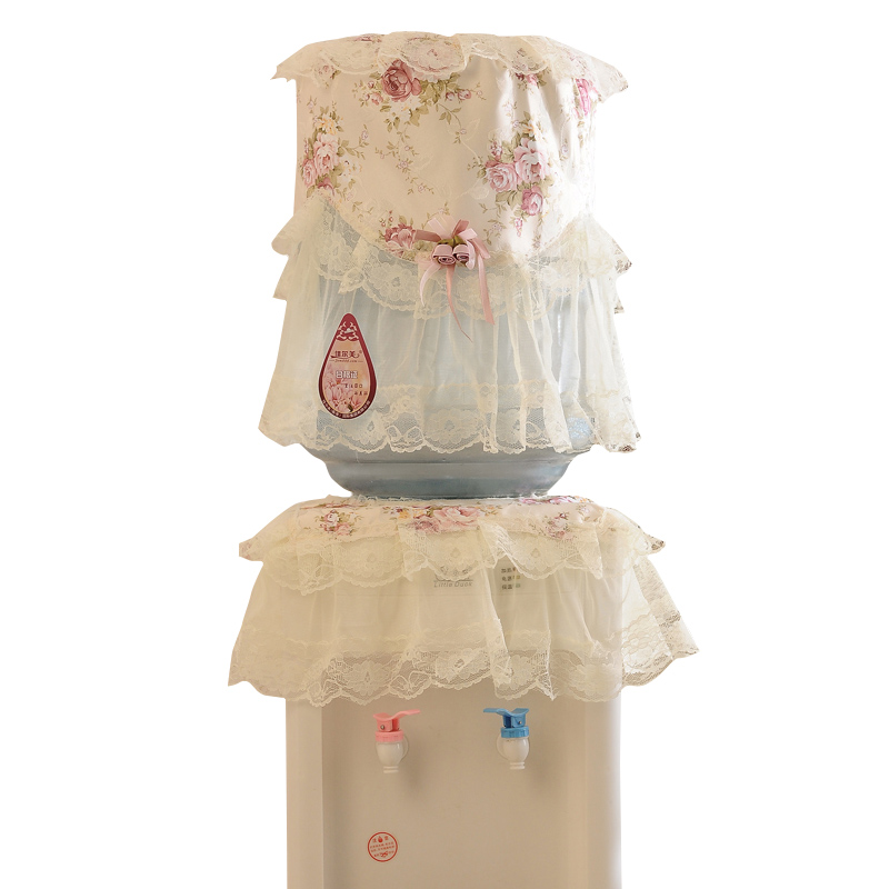 Pastoral Lace  Water Dispenser Cover Barrell Water Bottle Cover Decorative Lace Bucket Dust Proof Cover For Water Cooler