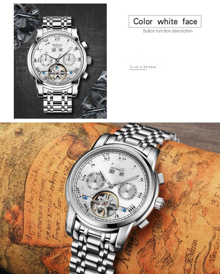 relógio mecânico homem esqueleto masculino relogio masculino