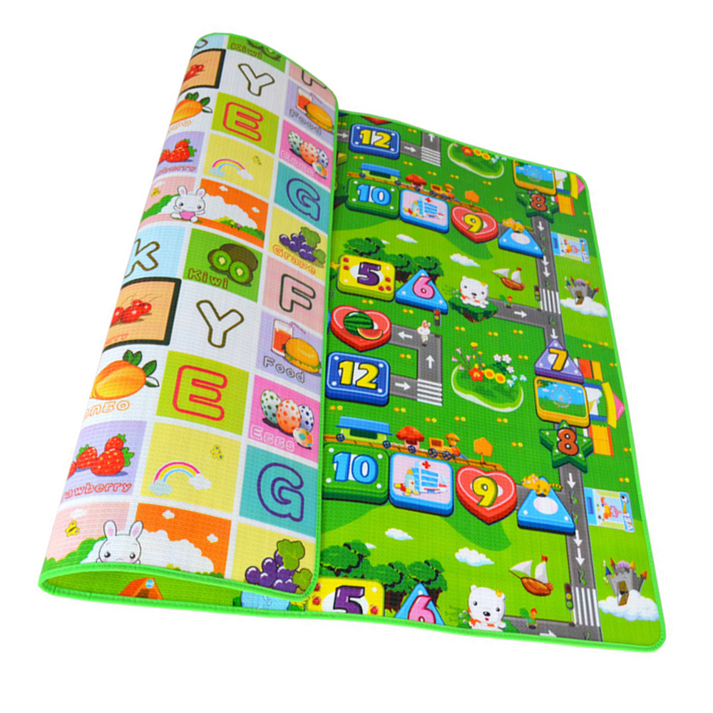 Baby Play Mat 0.5cm Thick Foldable Crawling Mat Double Surface Baby Carpet Rug Cartoon Developing Mat for Children Game Playmat
