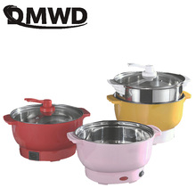 DMWD wielofunkcyjny ryżowar patelnia elektryczna garnek do gotowania makaronu jajko omlet patelnia Mini Hotpot parowar zupa podgrzewacz tanie tanio Ce ue Pojedyncze dno 220 v Stainless Steel 600W