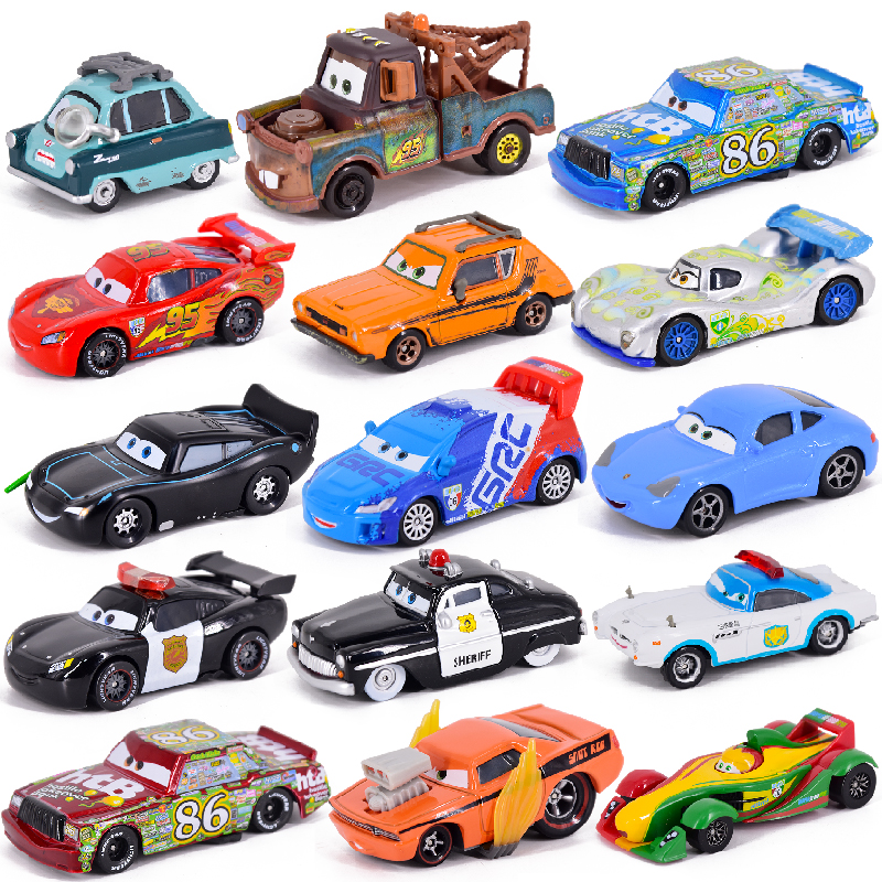 Carro diney pixar carro 3 relâmpago mcqueen mater jackon torm ramirez 155 diecat veículo liga de metal garoto brinquedo chritma