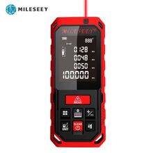 Mileseey medida de distância a laser 164ft 50m mini handheld digital medidor de distância a laser telêmetro fita de medição diastimeter