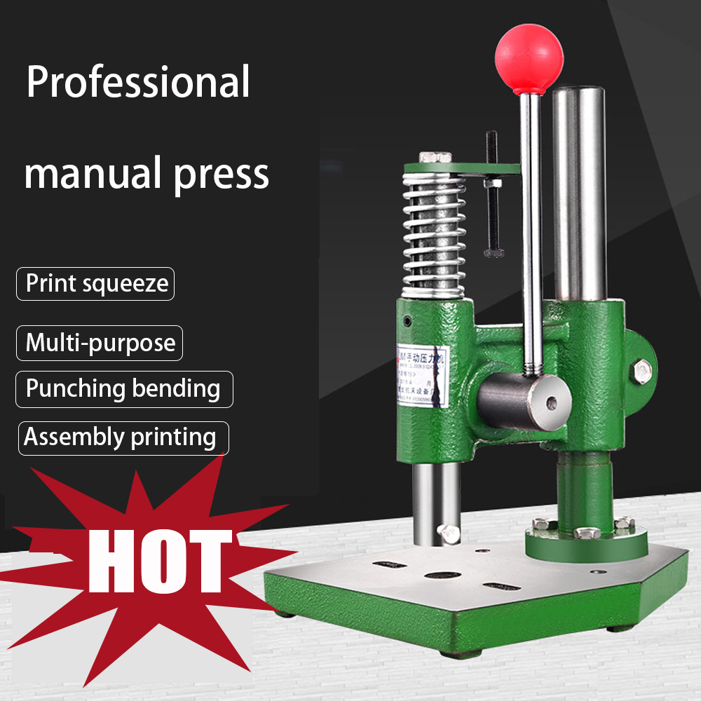 SWANSOFT Manual Press Small Hand Beer Machine Simple Punch Press Hand Plate Press Mini Press Press Machine For Factory