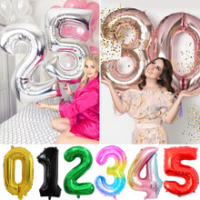 32 polegada número balões número de hélio balão figuras feliz aniversário festa decoração do casamento globo chá de fraldas