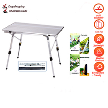 Backpacking Desk-Furniture Computer-Bed Lightweight Folding Barbecue Camping-Table Aluminum-Alloy