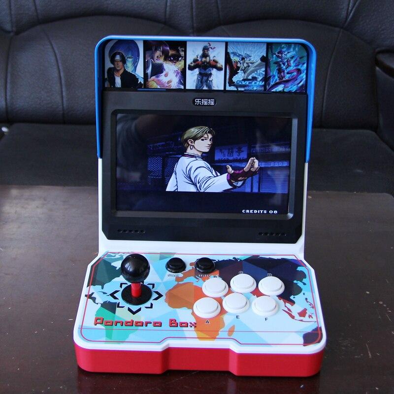 Venta al por mayor de 10 pulgadas de pantalla LCD mini bartop arcade 3D juegos máquinas pandora9d caja kit consola de juegos gabinete 2500 en 1
