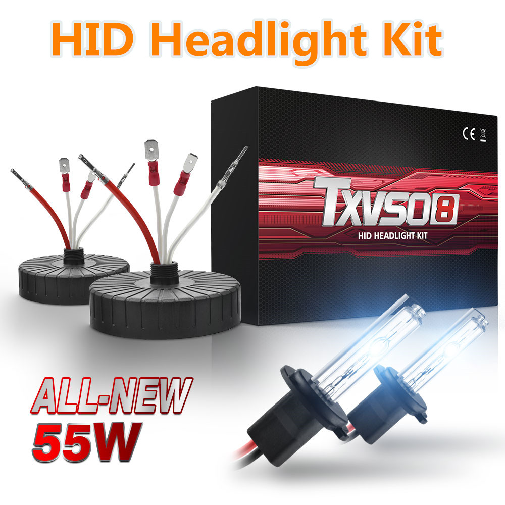 2x 55W HID H7 Xenon Kit Mini Headlight Bulbs Car Universal HeadLamp HID Xenon Bulbs 4300K-10000K With Ultrathin Ballast