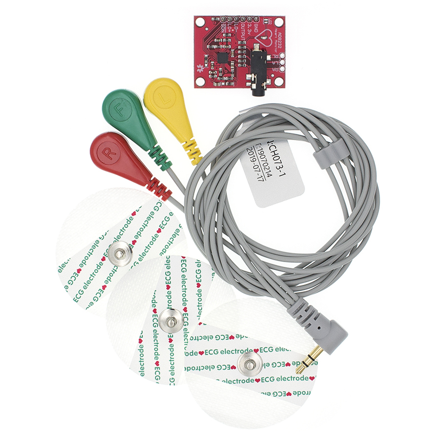 AD8232 <font><b>Ecg</b></font> module AD8232 <font><b>ecg</b></font> measurement pulse heart <font><b>ecg</b></font> monitoring <font><b>sensor</b></font> module kit Diy image