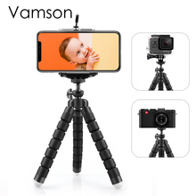 Vamson Flexible Mini Tripod for smartphone Tripod Mobile Phone Holder clip stand