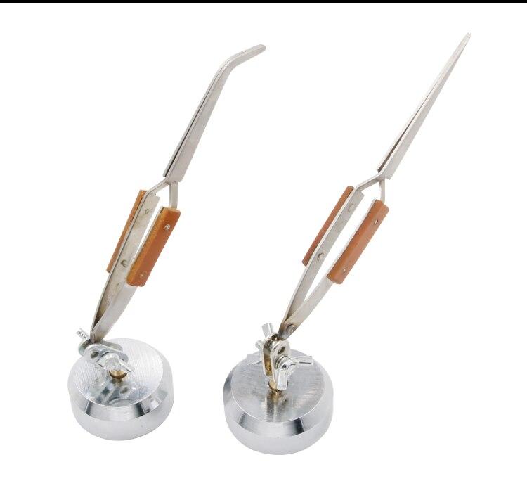 Rebound Jewelry Welding Tweezers Curved Straight Soldering Tweezer Selflock Jewelers Jewelry Making Tools Repair Locking Pick