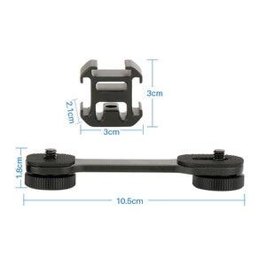 Image 2 - Für DJI Osmo Mobile 3 2 Zubehör Triple Hot Shoe Mount Gimbal Adapter Verlängerung Halterung für Zhiyun Glatte 4 Q2 osmo tasche