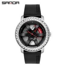 Sanda часы Лидирующий бренд роскошные модные мужские студенческие