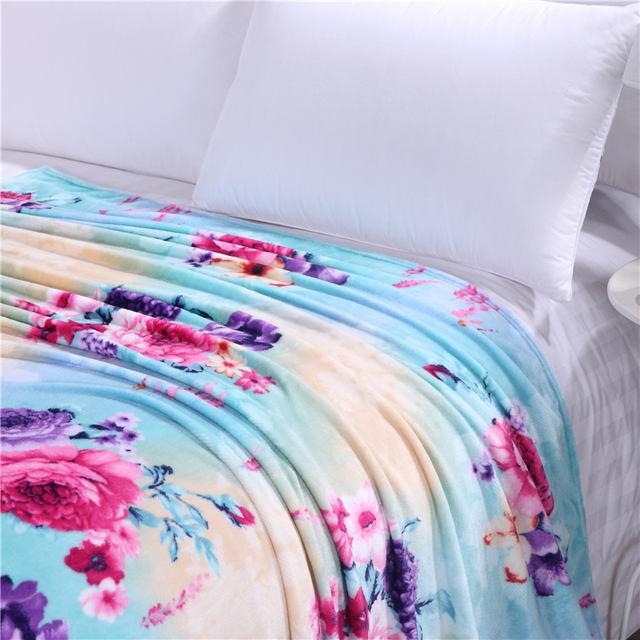 Soft Fleece Floral Printed Blanket