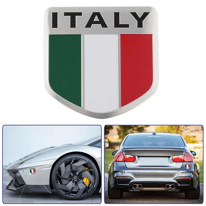 3D アルミイタリア車のステッカーシボレーシュコダ honda 自動バッジデカールイタリア国旗の車スタイリングアクセサリー