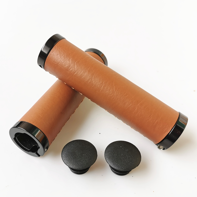 Selling Mountain Road Bicycle Handlebar Grips Pu Bike Handle Grips Black Brown