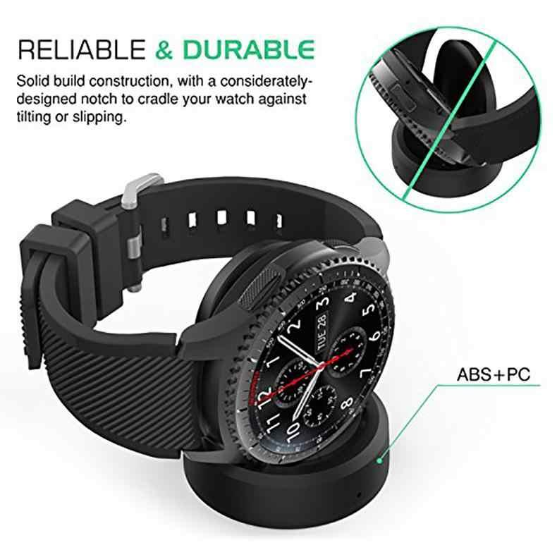 5V 1A חכם שעון USB אלחוטי מטען עריסת Dock עבור Samsung הילוך S3 Frontier SM-R760/Frontier SM-R765/קלאסי SM-R770