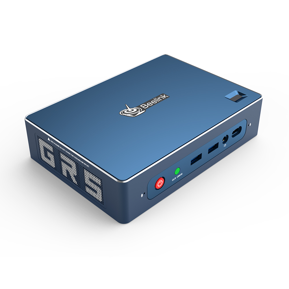 Beelink GT-R мини-ПК AMD Ryzen 5 3550H 16GB/512GB Windows 10 WiFi 6 вход по отпечатку пальца голоса Type-C HTPC игровой компьютер