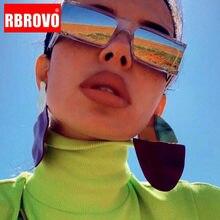 RBROVO-gafas De Sol cuadradas Estilo Vintage para mujer y hombre, anteojos De Sol femeninos, De diseñador De marca, rectangulares, estilo Punk, UV400