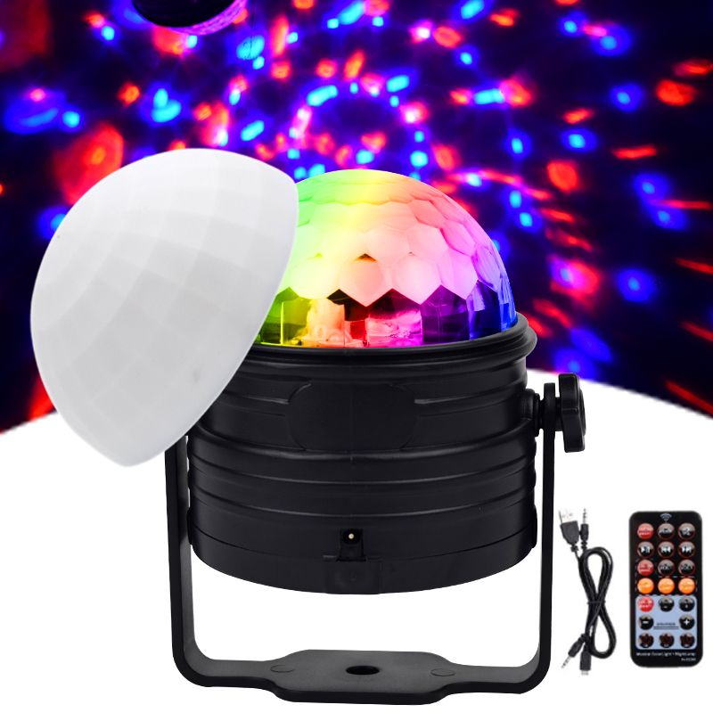 WUZSTAR LED Disco Ball Light RGB Mini Colorful Night Lights Party DJ Decoration Lighting Effect For Home Festival
