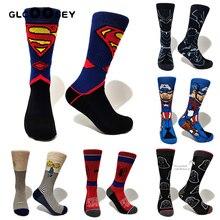 Men Socks Marvel Novel Comics Avenger Star wars Sox Superman Spider-man Thor Cap