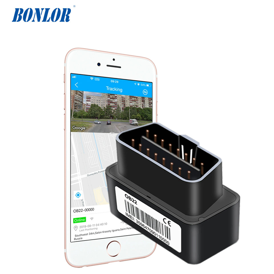 Compact Size OBD Car GPS Tracker With Plug & Play OBD Port Realtime GPS Positioning Tracking & Multiple Plug Out Alarm Free APP