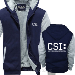 Image 3 - TV crime scene investigation police forensic CSI warm coat Fashion Brand thick jacket men new DIY high quality sbz5225