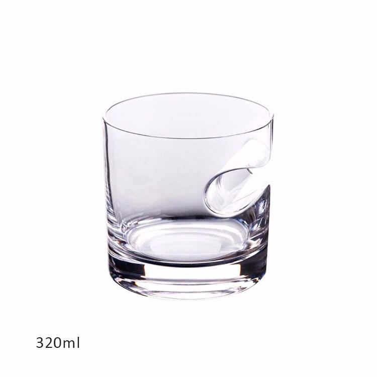 1 шт. с пазами для сигарет чашки для сигар бессвинцовый прозрачный стакан для пива домашнее Вино тумблер для виски утолщенное стекло круглая кружка для напитков - Цвет: Прозрачный