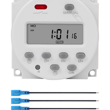Timer-Switch Time-Relay-Programmer Rechargeable-Battery Digital CN101A 110V 220V Built-In