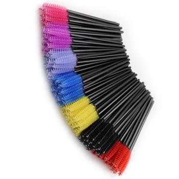 1000 500Pcs jednorazowe szczotka do rzęs wydłużająca rzęsy narzędzie szczotka szczoteczki do tuszu do rzęs Stick aplikator kryształ rzęs kobiety kosmetyczne nowy tanie i dobre opinie LTWEGO COMBO CN (pochodzenie) 500 1000PCS Z tworzywa sztucznego Pędzel do makijażu makeup brush Synthetic Hair Nylon Wool Fiber