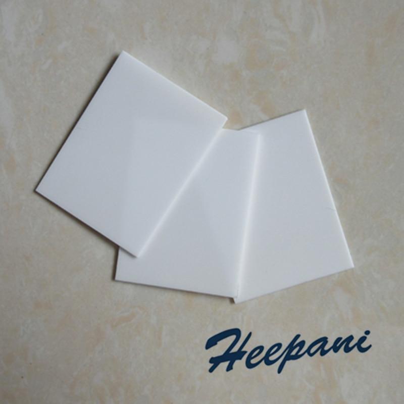 Customize High Thermal Conductivity Beryllia Ceramics BeO Plate 20x26x1.5mm Thin Beryllium Oxide Ceramic Substrate Sheet