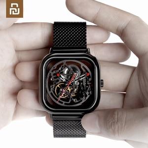 Image 1 - CIGA Reloj de pulsera mecánico ahuecado, de acero inoxidable, de lujo, automático
