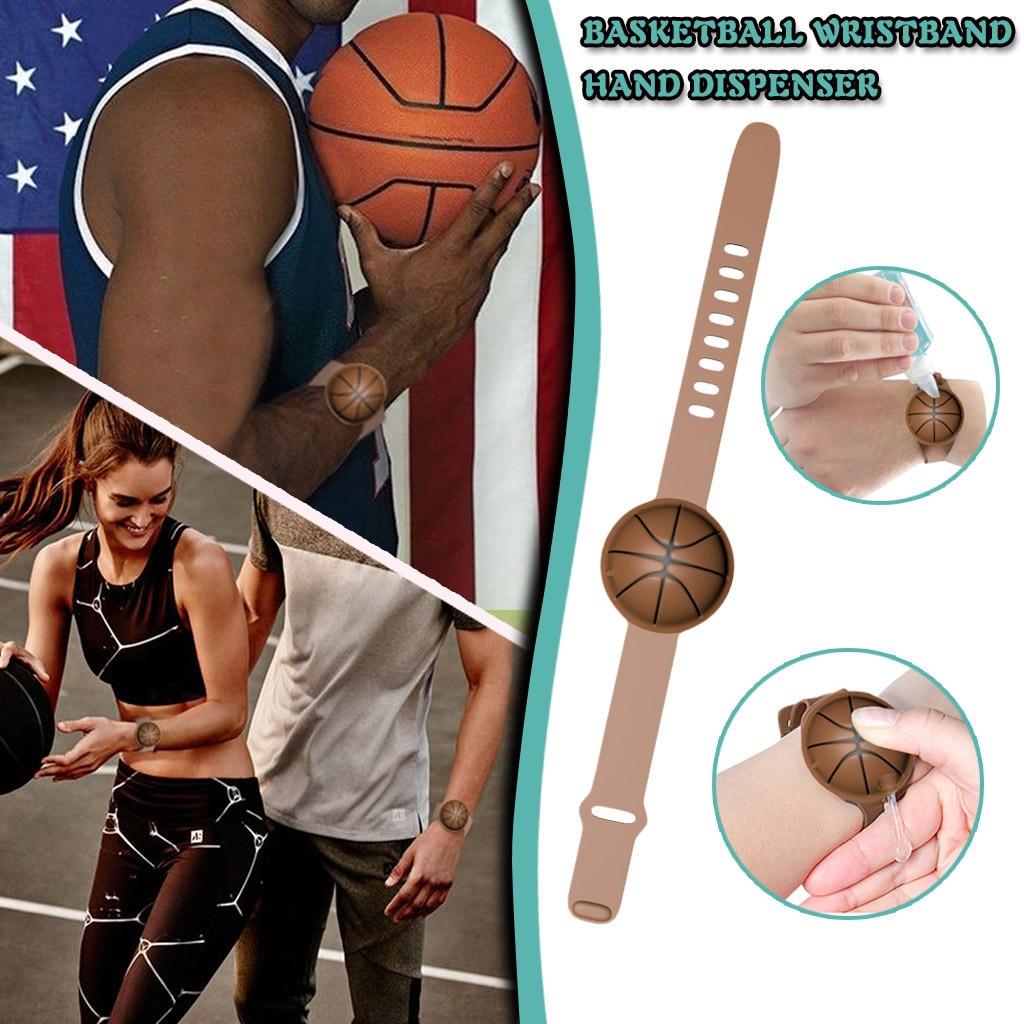 1/3/5PCAdult Kid Basketball Silicone Hand Sanitizer Hand Washing Gel Alcohol Divided Bracelet Wrist Band + Divided Bottle New