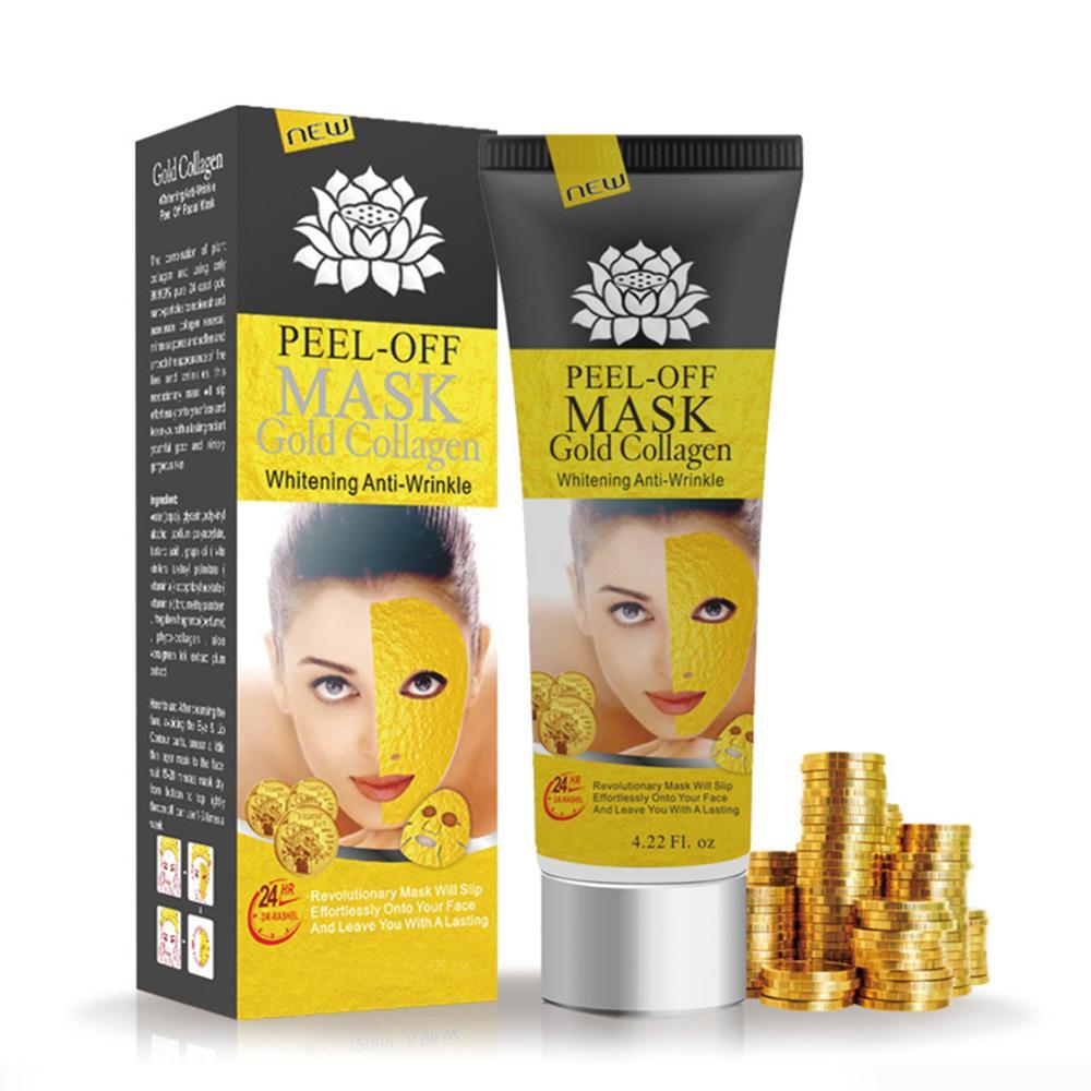 24К Золотая коллагеновая маска для лица, Антивозрастная маска для удаления морщин, уход за кожей, очищающая угри маска, увлажняющая Зимняя Ма...