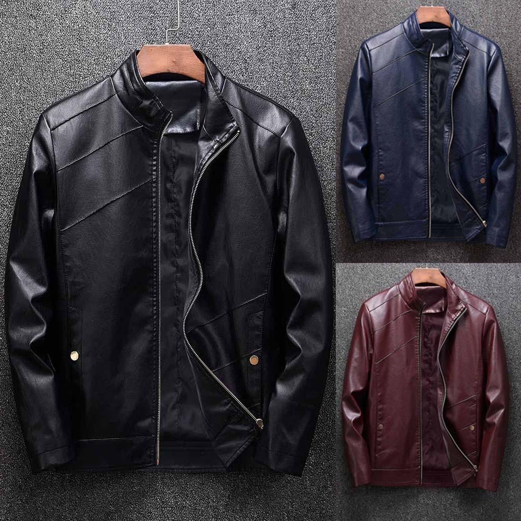 Winter Coat Jacket Casual Support Zipper Solid Blouses Tops Long-Sleeve Men